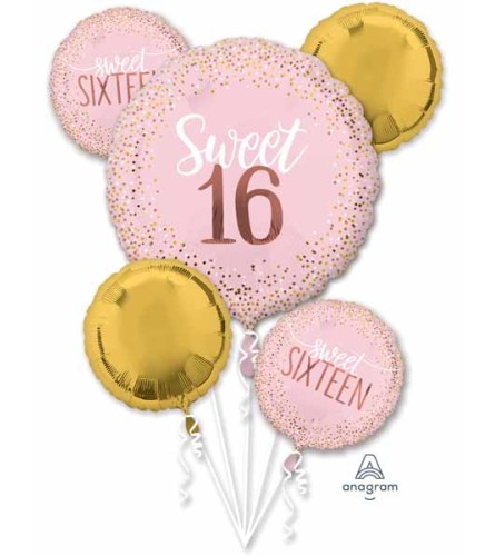 16 Blush Super Fun Foil Balloon Bouquet