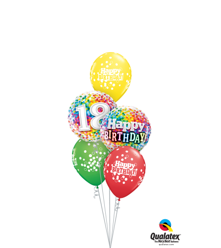 Great To Be 18 Classic Balloon Bouquet