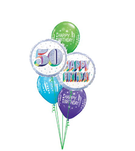 Here's To Fifty! Classic Balloon Bouquet