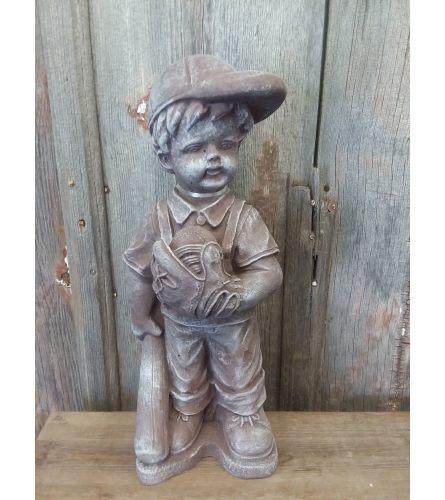 Concrete Statue - Baseball Boy