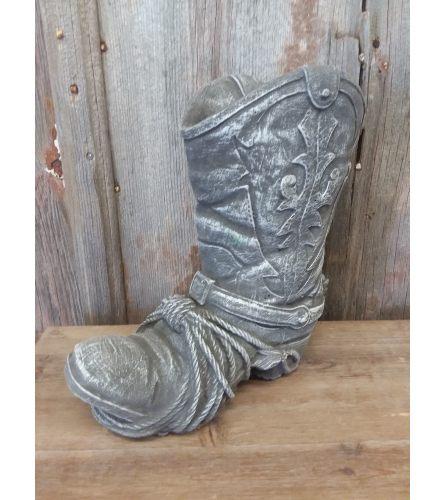 Concrete Statue - Cowboy Boot