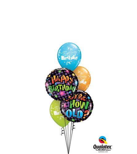 You're How Old? Classic Balloon Bouquet