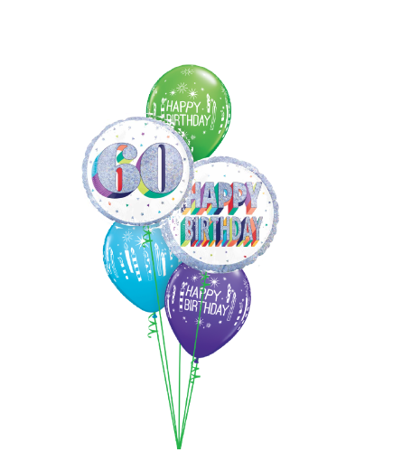 Here's To Sixty! Classic Balloon Bouquet