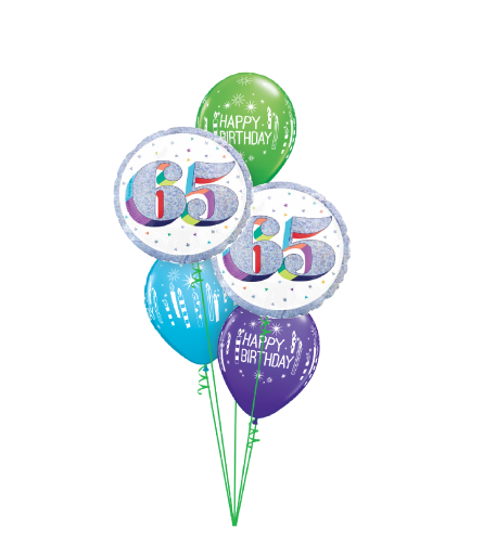 Here's To Sixty Five! Classic Balloon Bouquet