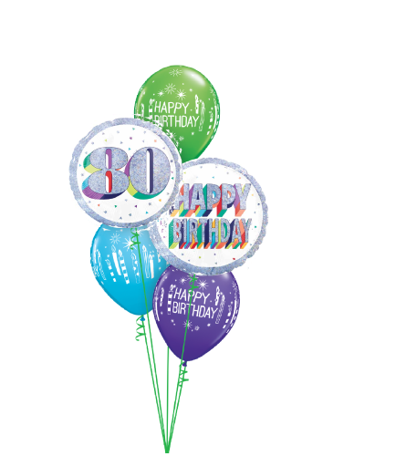 Here's To Eighty! Classic Balloon Bouquet