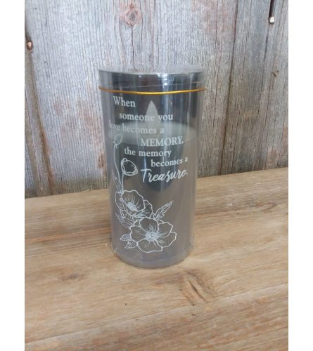 Candle Metallic Glass 'When Someone You Love'