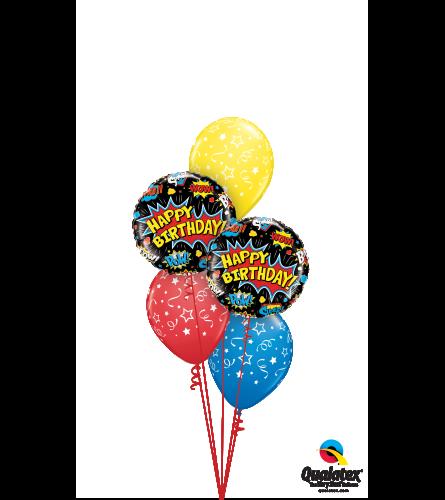 Superhero Birthday Classic Balloon Bouquet
