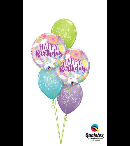 Fantastic Birthday Classic Balloon Bouquet