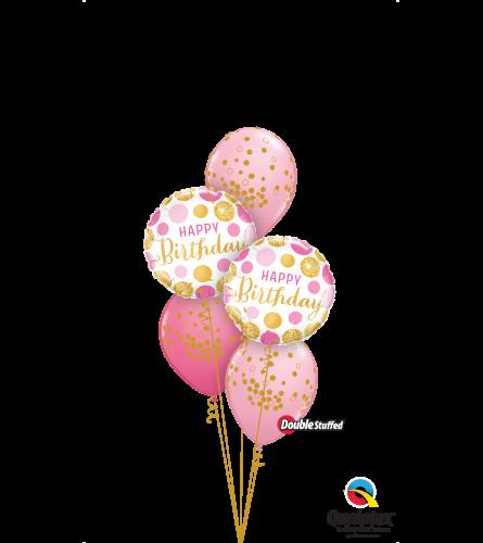 Glittering Polka Dots Classic Confetti Balloon Bouquet