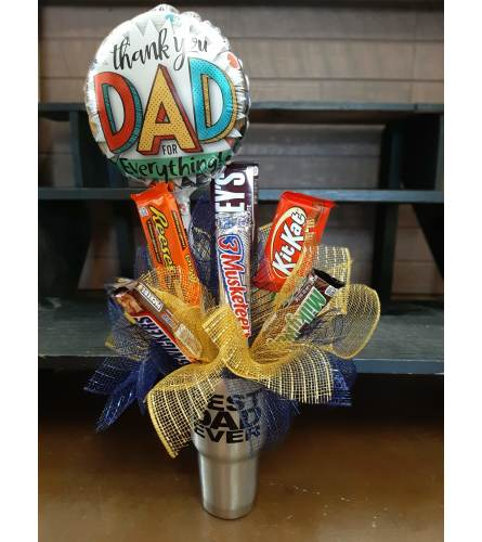 Best Dad Ever Tumbler Candy Bouquet