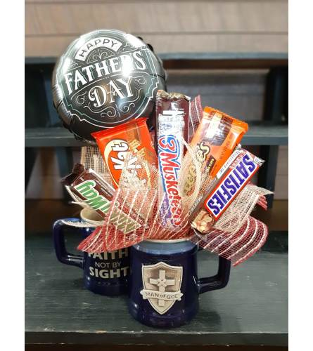 Man of God Coffee Mug Candy Bouquet