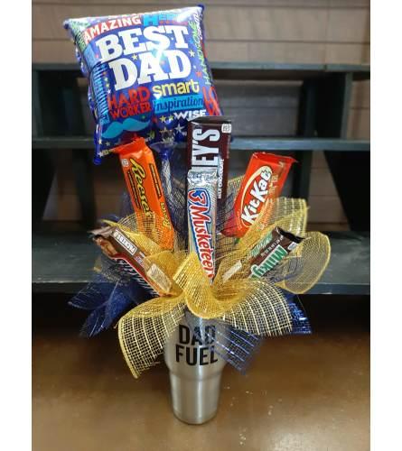 Dad Fuel Tumbler Candy Bouquet
