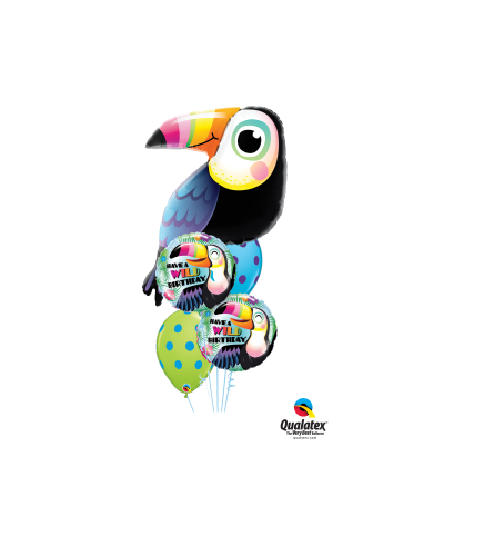 Toucan Birthday Cheerful Balloon Bouquet