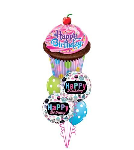 Cupcakes Cheerful Balloon Bouquet