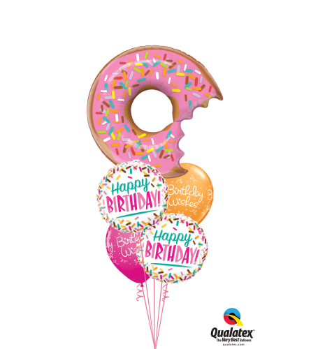 Sweet Birthday Sprinkles Cheerful Balloon Bouquet