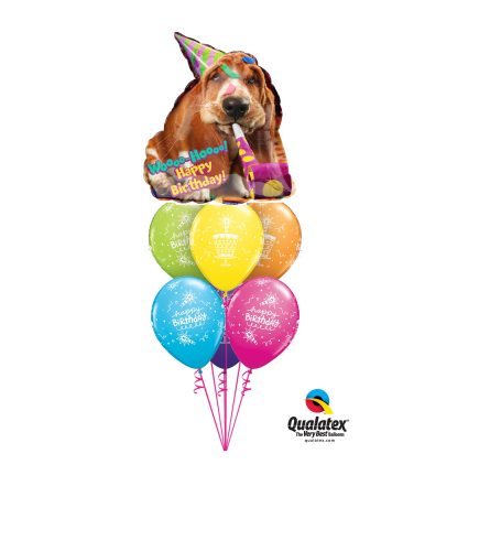 Woo-Hoo Party Hound Awesome Balloon Bouquet