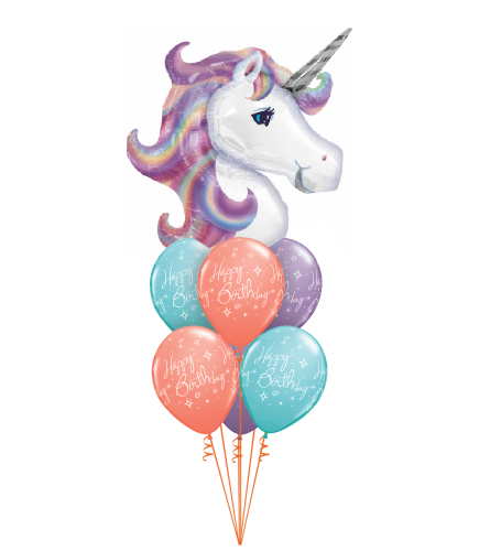 Pastel Wishes Unicorn Awesome Balloon Bouquet