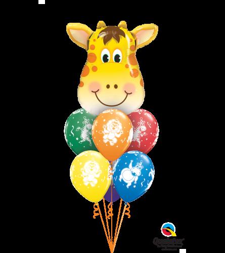 Jolly Giraffe Awesome Balloon Bouquet