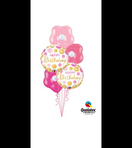 Happy Birthday Pink Blossom Balloon Bouquet