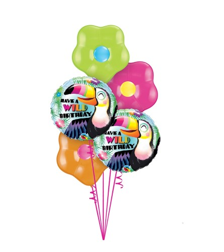 Have a Wild Birthday Blossom Balloon Bouquet