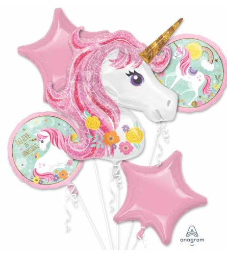 Magical Unicorn Super Fun Foil Balloon Bouquet