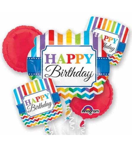 Bright Birthday Super Fun Foil Balloon Bouquet