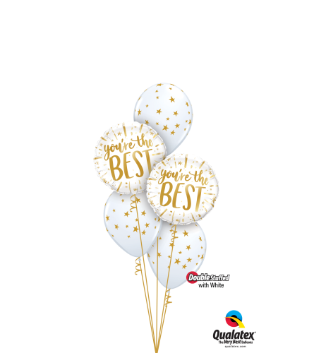 Good As Gold! Classic Confetti Balloon Bouquet