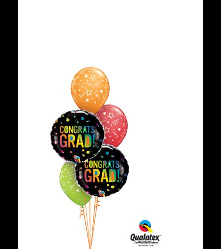 Congrats Grad! Confetti Classic Balloon Bouquet