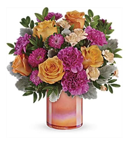 Perfect Spring Peach Bouquet Teleflora