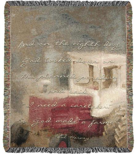 Tapestry Throw - Farmers
