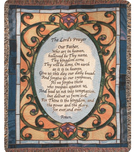 Tapestry Throw - The Lords Prayers