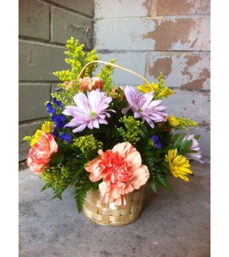Garden Blooms Basket Arrangement