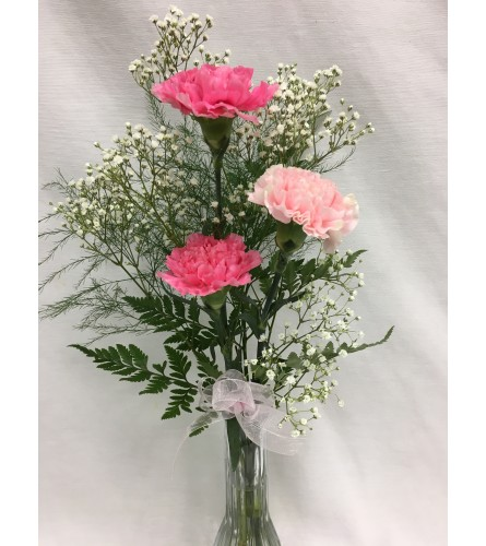 Carnation Bud Vase Arrangement