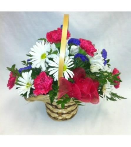 Basket of Blooms Arrangement