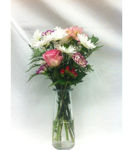 Cheerful Blooms Vase Arrangement