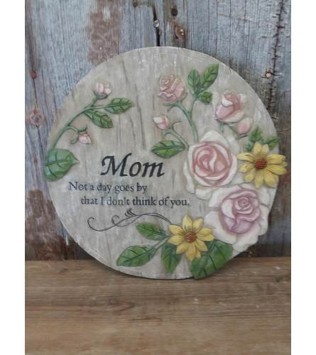 "Plaque (round) ""Mom"""