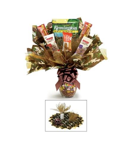 Camo Candy Vase Bouquet