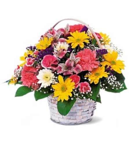 Simple Pleasures Basket Arrangement