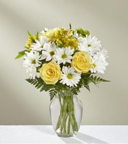 The FTD Sunny Sentiments Bouquet Vase Arrangement