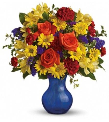 Teleflora's Three Cheers for You! Vase Arrangement
