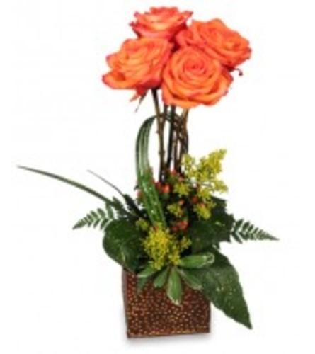 Orange Rose Topiary