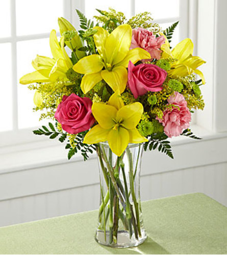 The FTD Bright and Beautiful Bouquet Vase Arrangement