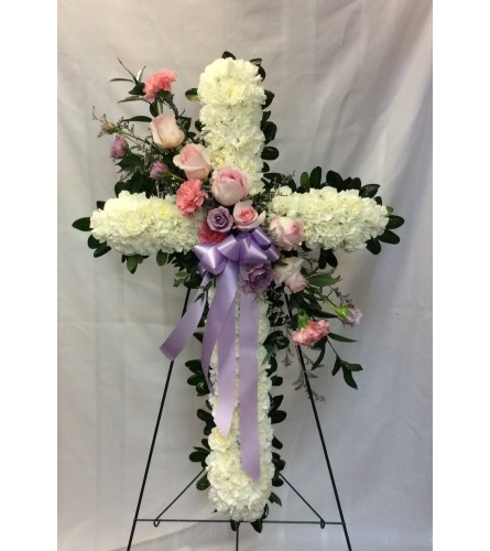 "30"" Cross With Pastel Spray"