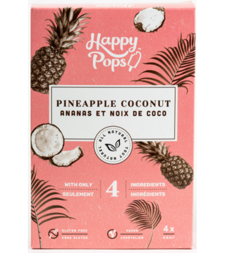 Happy Pops™ (Pineapple Coconut/Ananas Et Noix De Coco)