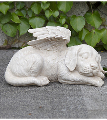 SLEEPING DOG ANGEL WITH WINGS