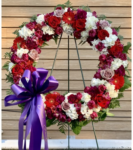 Red, white and Purple Wreath