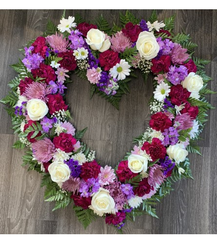 Purple Open Heart