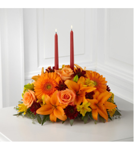 Bright Autumn Table Arrangement