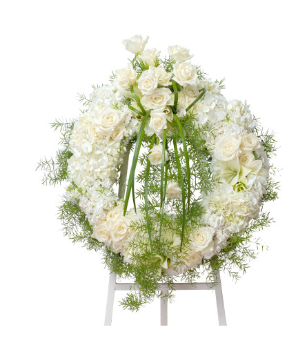 White Elegant Wreath