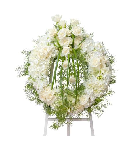 White Elegant Wreath